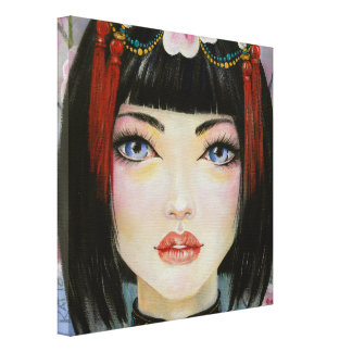 China Doll Stretched Canvas Prints