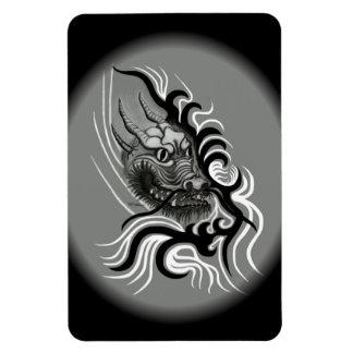 China-Dragón en estilo del tatuaje Imán Flexible
