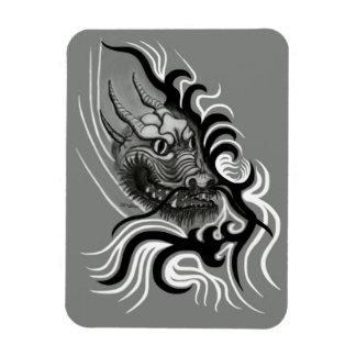 China-Dragón en estilo del tatuaje Iman Rectangular