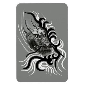 China-Dragón en estilo del tatuaje Iman De Vinilo