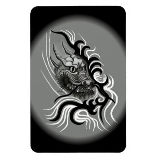 China-Dragón en estilo del tatuaje Imán Rectangular
