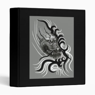 China-Dragon in Tattoo Style 3 Ring Binder