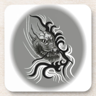 China-Dragon in Tattoo Style Beverage Coaster