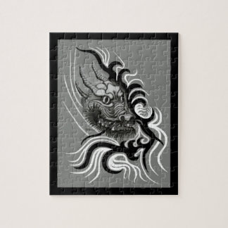 China Dragon in Tattoo style Jigsaw Puzzle