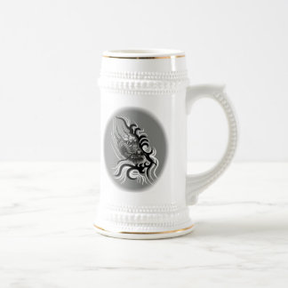 China dragon in Tattoo styles Beer Stein