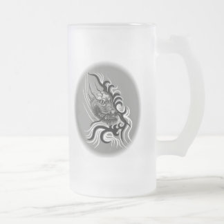 China dragon in Tattoo styles Frosted Glass Beer Mug