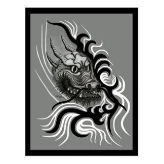 China dragon in Tattoo styles Postcard