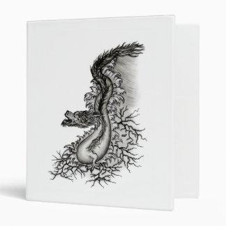 China Dragon in Tattoostyle 3 Ring Binder