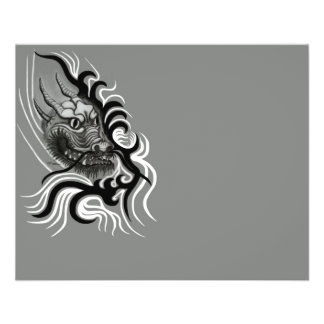China Dragon in Tattoostyle Custom Flyer