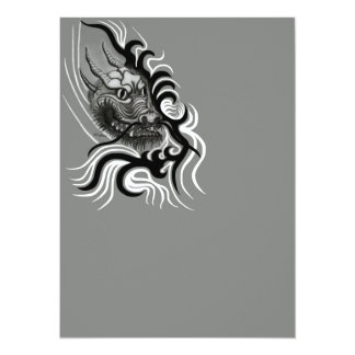 China Dragon in Tattoostyle Custom Invites