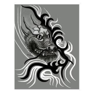China Dragon in Tattoostyle Postcard
