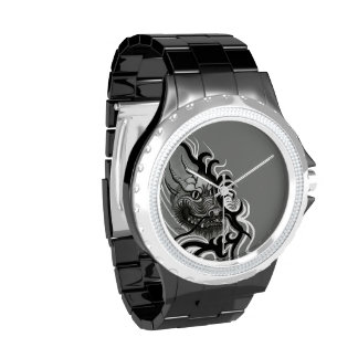 China Dragon in Tattoostyle Wristwatch