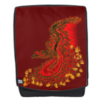 China Dragon red and gold design Backpack