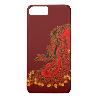 China Dragon red and gold design iPhone 8 Plus/7 Plus Case