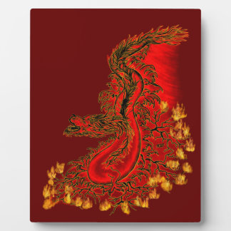 China Dragon red and gold design Plaque