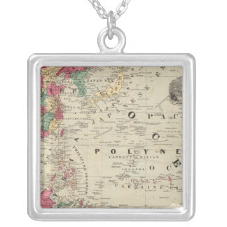 China EaSt. Indies Australia and Oceanica Square Pendant Necklace