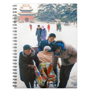 China en el invierno - expedición de la familia cuadernos