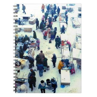 China en el invierno - mercado del invierno cuaderno