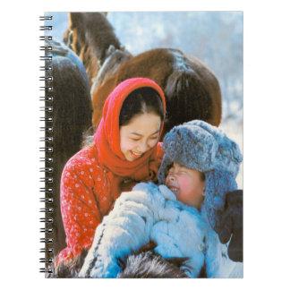 China en el invierno - viaje de la familia spiral notebooks