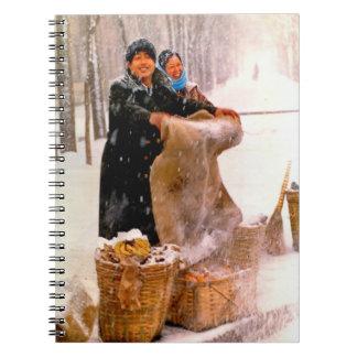 China en invierno - artículo de mimbre para la ven note book