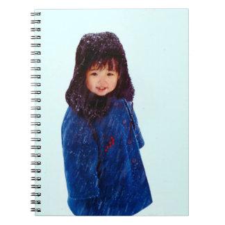 China en invierno - chica chino libreta