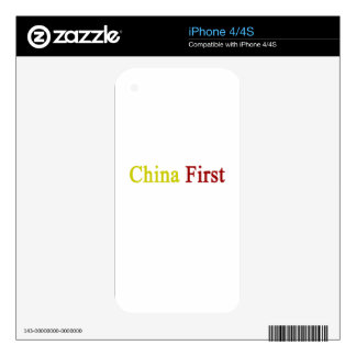 China First Decals For The iPhone 4S