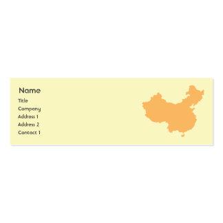 China - flaca plantilla de tarjeta de visita