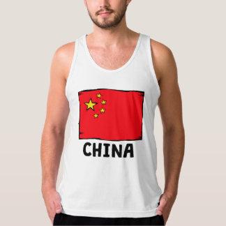 China Flag American Apparel Fine Jersey Tank Top