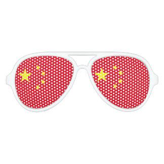 China Flag Aviator Sunglasses