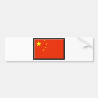 China Flag Bumper Stickers