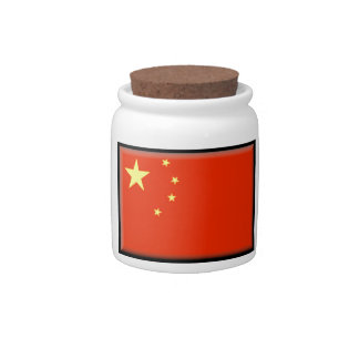 China Flag Candy Jars
