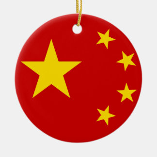 China Flag Ceramic Ornament