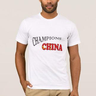 China Flag champions sports tshirt