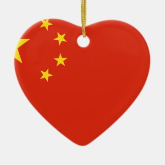 China flag. Chinese motif. Detail Ceramic Ornament