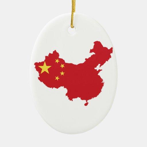 Christmas Ornaments From China : China flag christmas tree ornaments zazzle