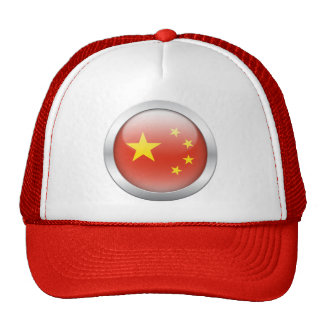 China Flag in Orb Trucker Hat