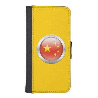 China Flag in Orb iPhone 5 Wallet Case
