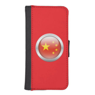 China Flag in Orb Phone Wallet Case