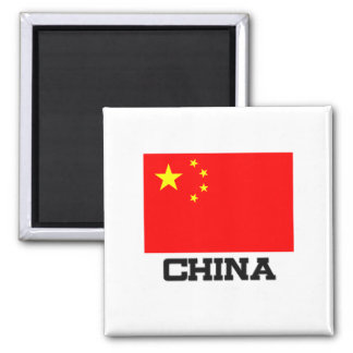 China Flag 2 Inch Square Magnet
