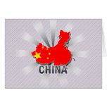 China Flag Map 2.0 Cards