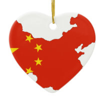 China Flag Map Ceramic Ornament