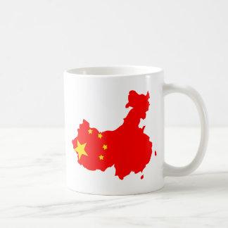 China Flag Map full size Coffee Mug