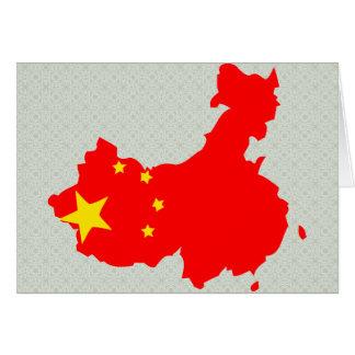China Flag Map full size Greeting Card