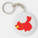 China Flag Map full size Key Chains