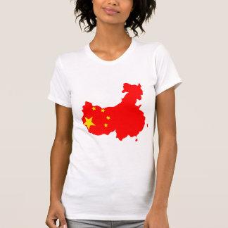 China Flag Map full size T Shirt