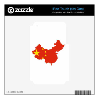 China Flag Map iPod Touch 4G Skin