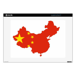 China Flag Map Laptop Skins