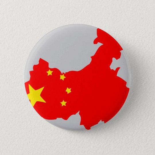 China flag map pinback button
