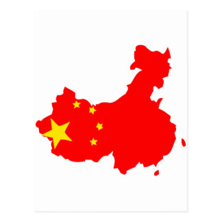 China flag map post cards