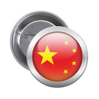 "China Flag ""Orb"" Pinback Button"